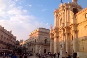Piazza Duomo in Ortigia, Syrakus