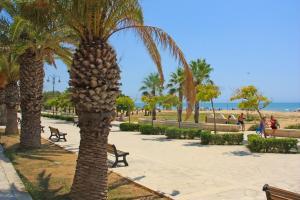 Strandpromenade in Pozzallo, Sizilien