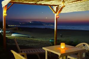 Pavillon direkt am Strand in Sizilien