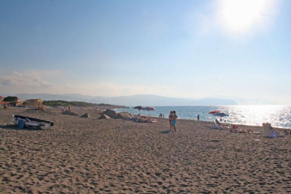Der Strand ist meistens wenig frequentiert