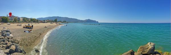 Ferienwohnung direkt am Strand von Sizilien mit Meerblick