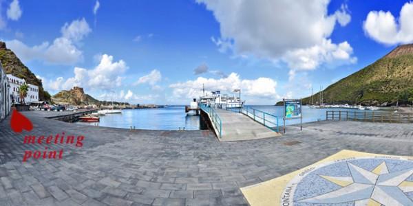 Treffpunkt am Hafen von Vulcano