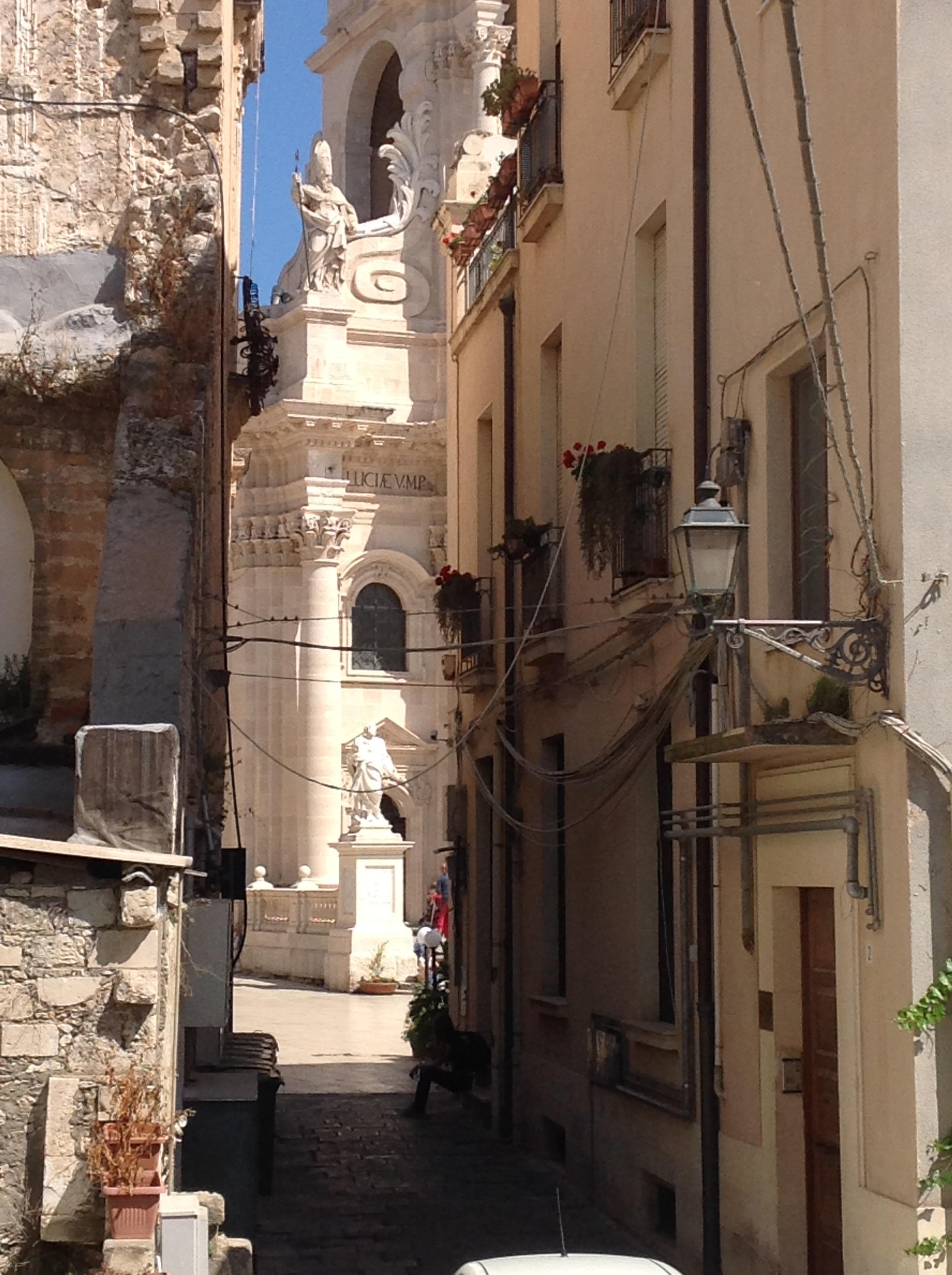 Blick zum Dom von Casa Ortigia