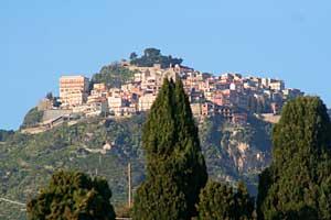 Das Bergdorf Castelmola